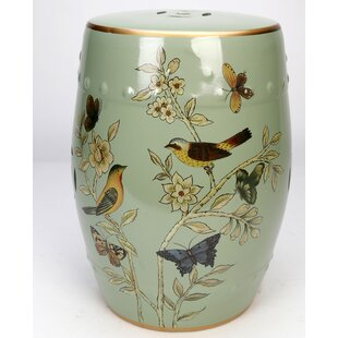 Glendale Heights Birds and Butterflies Garden Stool by Charlton Home