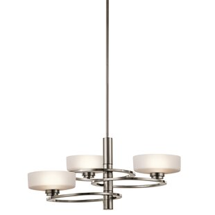 Top Reviews Aleeka 3-Light Shaded Chandelier By Kichler