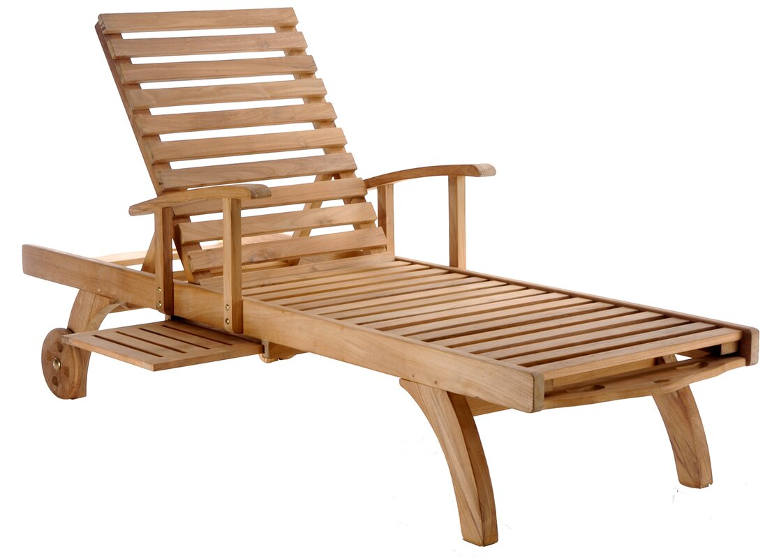 bahama teak chaise lounge. chicteak bahama teak chaise lounge  reviews  wayfair