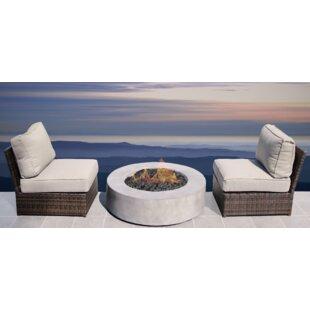 Orren Ellis Crofoot 3 Piece Conversational Set with Cushions