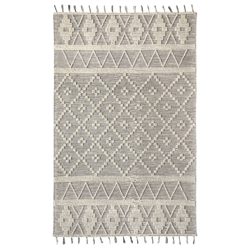 Dakota Fields Linden Boulevard Hand Knotted Wool Charcoal Area Rug Wayfair Ca