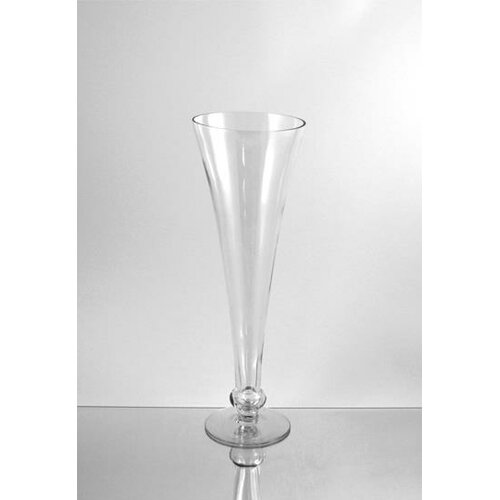 Wrought Studio Alyson Wavy Trumpet Glass Vase Wayfair