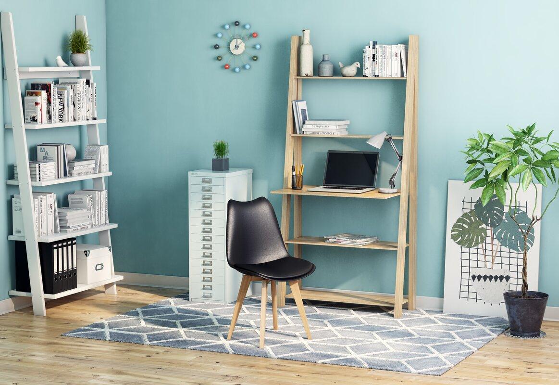Bücherregal STRADA in weiß und eiche
