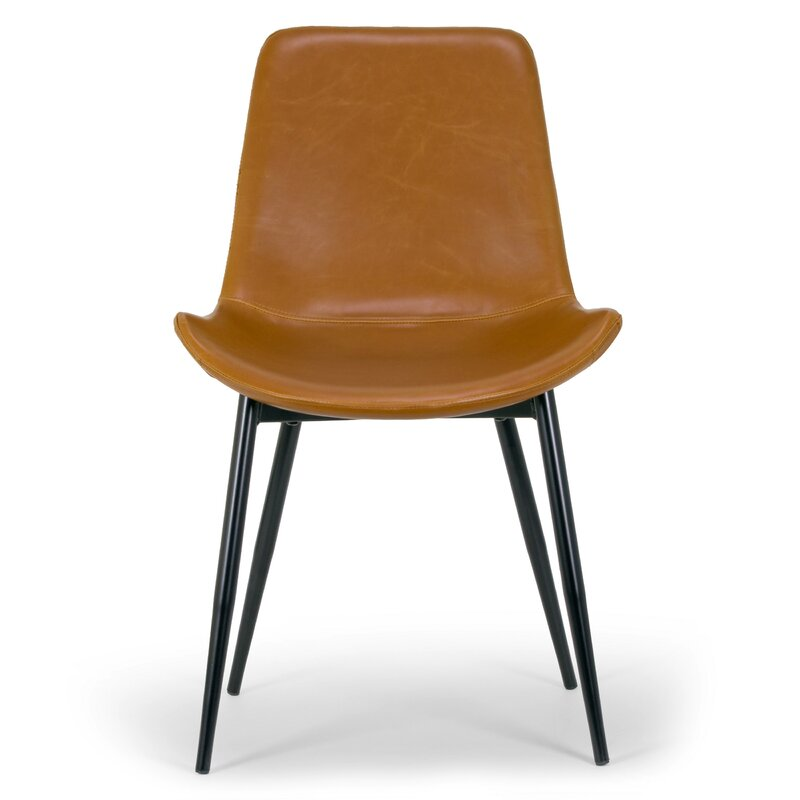 leather side chairs. Alary Faux Leather Modern Side Chair Chairs R