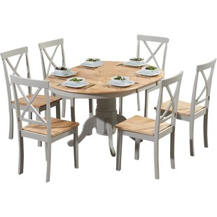 Review Bartett Extendable Dining Set With 6 Chairs