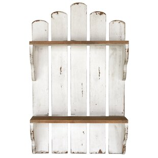 Breakwater Bay Woodhaven Wood Picket Fence Wall Shelf