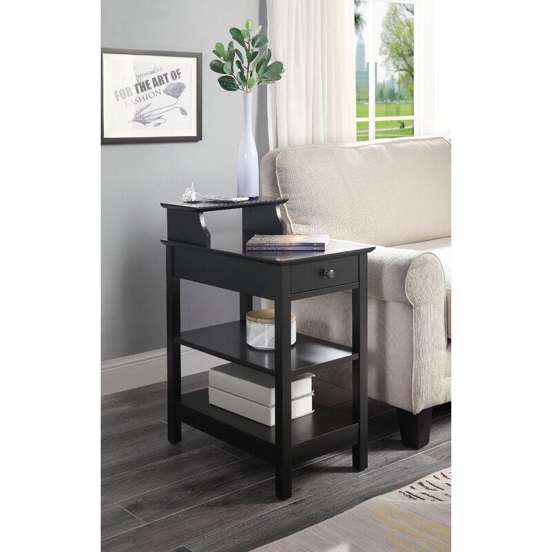 Ebern Designs Margarid End Table With Storage Reviews Wayfair