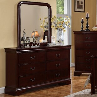 Venice 6 Drawer Double Dresser with Mirror