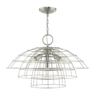 Briaroaks 4-Light Geometric Chandelier by Ivy Bronx