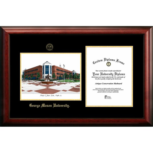 Campus Images Ncaa George Mason University Diploma Lithograph Picture Frame Wayfair