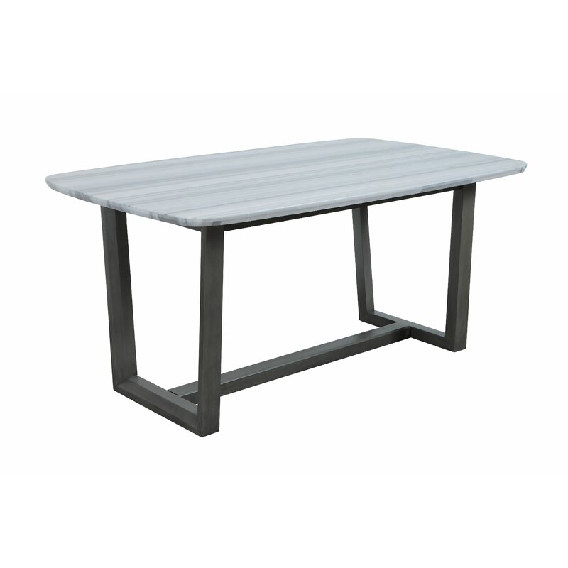 Latitude Run 40 X 72 X 30 Marble Grey Oak Wood Marble Dining Table Wayfair Ca