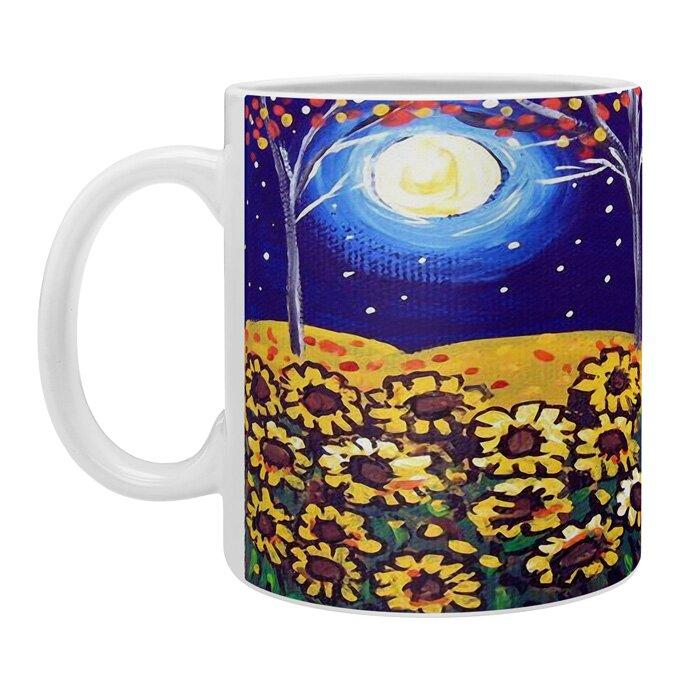 East Urban Home Renie Britenbucher Scarecrow In The Moonlight Ceramic Coffee Mug Wayfair