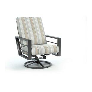 Gallegos Trusted Fog High Back Rocker Chat Swivel Patio Chair with Sunbrella Cushions