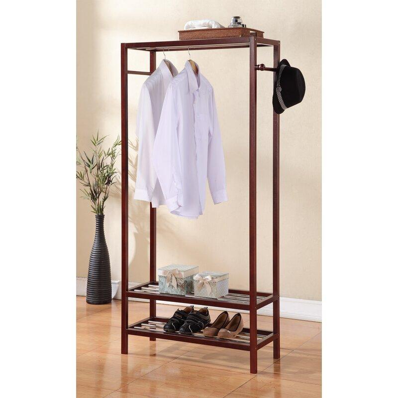 """Red Barrel Studio® Nickell 31"""" Wooden Garment Rack Coat Hanger"""