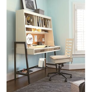 Read Reviews Frieda Writing Desk with Hutch and Chair Set ByCanora Grey
