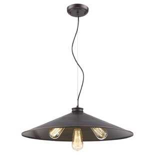 Wrought Studio Chatman 3-Light Dome Pendant