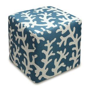Coral Cube Ottoman