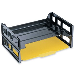 Officemate International Corp Stackable Desk Trays, Side Load, 13-3/16
