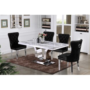 Cris 5 Piece Dining Set by Everly Quinn Spacial Price