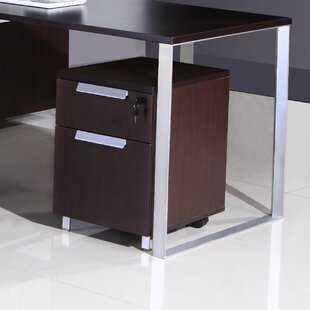 Partlow 2-Drawer Mobile Vertical Filing Cabinet by Symple Stuff Top Reviews