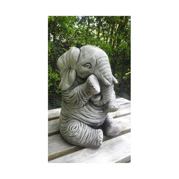 Garden Ornaments By Onefold Elephant Trunk Down Stone Garden Statue |  Wayfair.co.uk