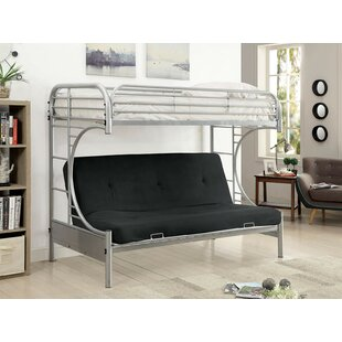 Oviedo Metal Twin Futon Bunk Bed by Zoomie Kids