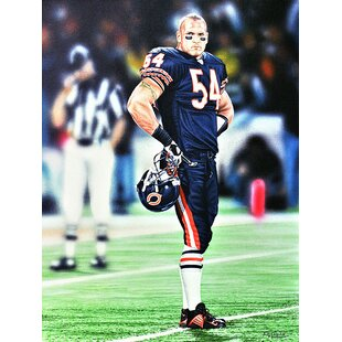 'Brian Urlacher Chicago Bears' Oil Painting Print on Wrapped Canvas by East Urban Home