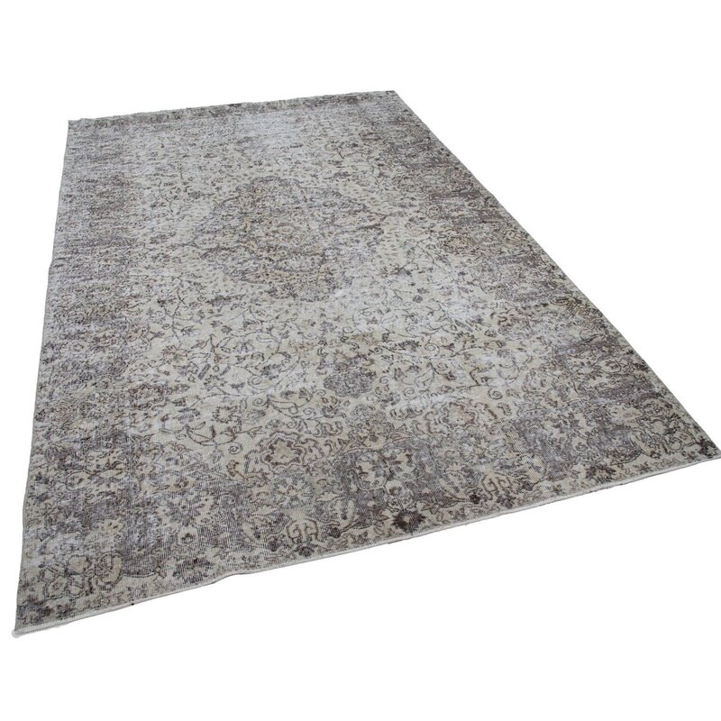 Bespoky Vintage Rugs One Of A Kind Oriental Hand Knotted 7 X 10 Gray Black Area Rug Perigold