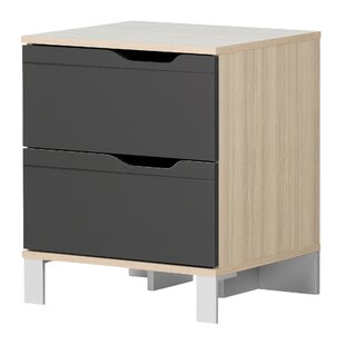 Kanagane 2 Drawer Nightstand