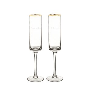 2piece 8 oz champagne flute set of 2