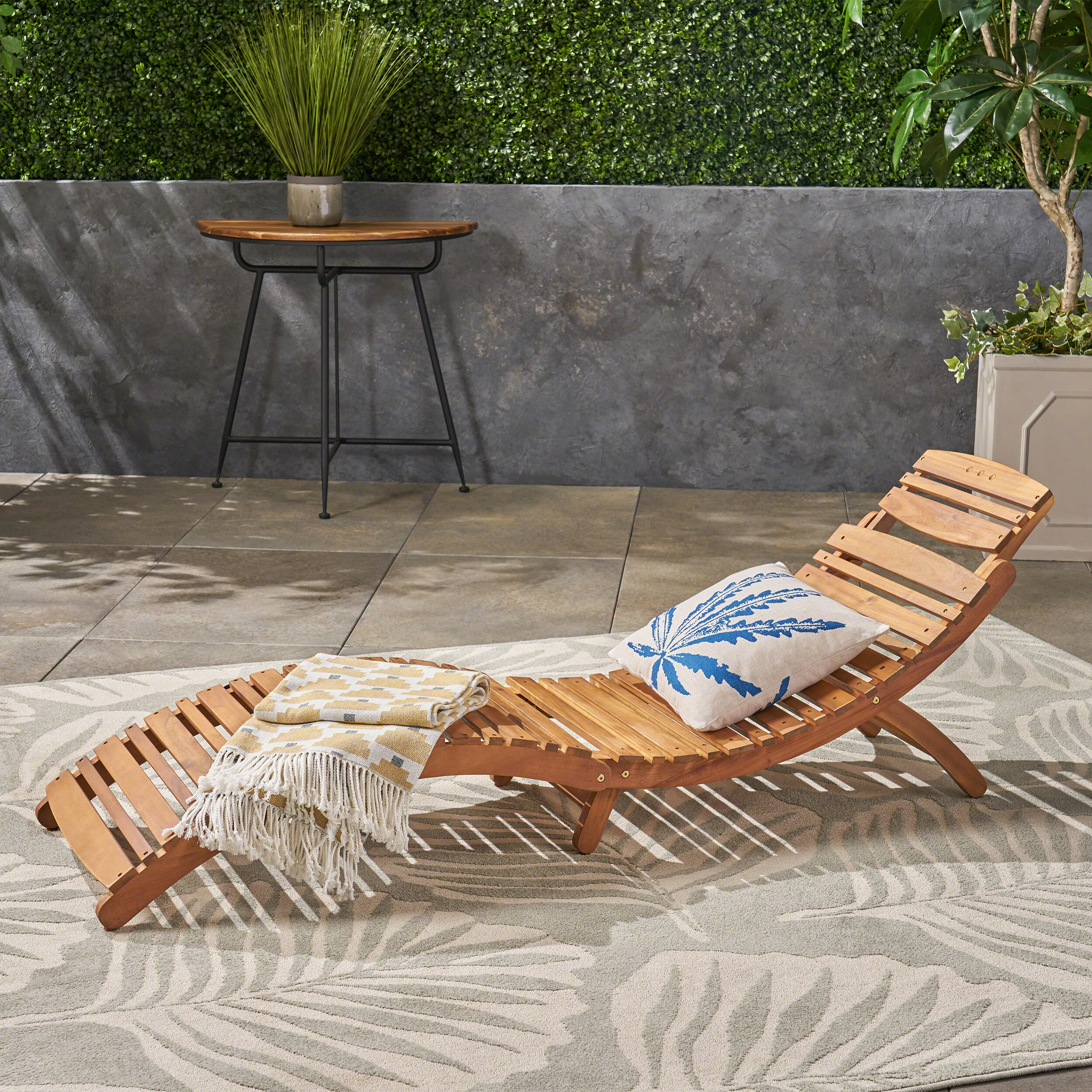 Tremendous Tifany Wood Outdoor Chaise Lounge Pabps2019 Chair Design Images Pabps2019Com