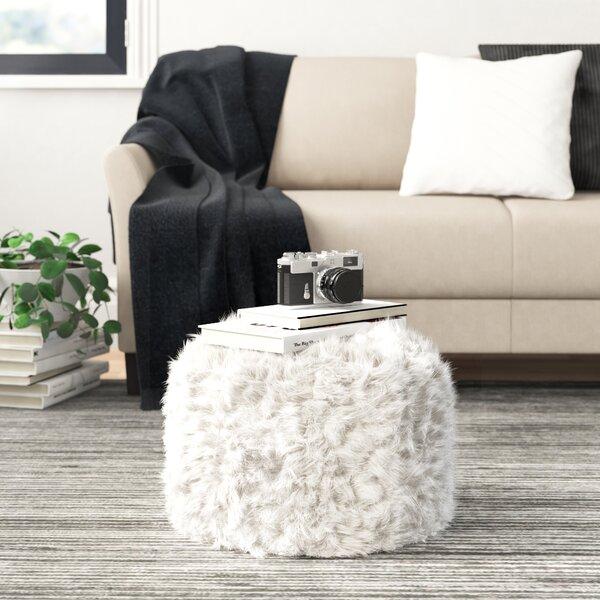 Pleasant White Fuzzy Ottoman Wayfair Machost Co Dining Chair Design Ideas Machostcouk
