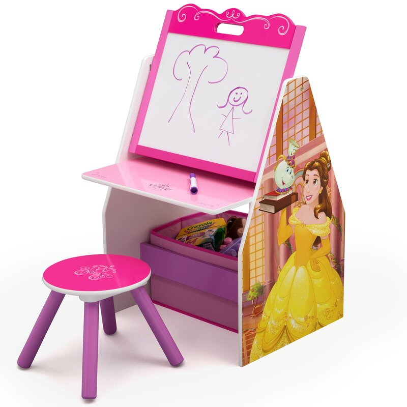 Disney Princess Activity Center Easel Art Desk with Stool and Toy Organizer  sc 1 st  Wayfair & Delta Children Disney Princess Activity Center Easel Art Desk with ... islam-shia.org
