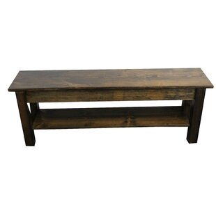 Highland Dunes Hanneman Wood Bench with S..