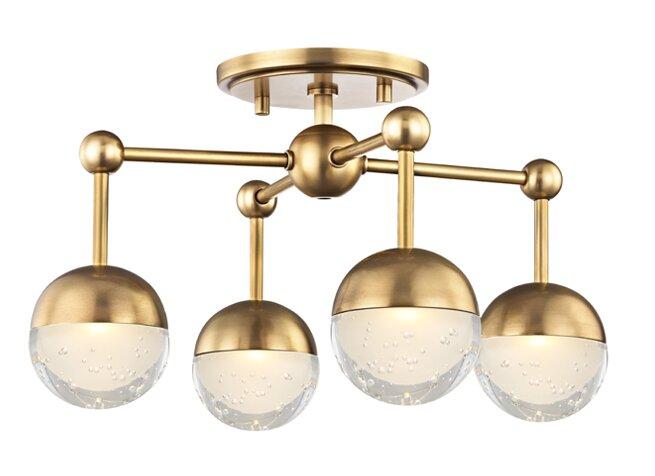 George Oliver  Brubaker 4 Light LED Semi Flush Mount