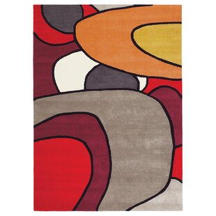 Xian Hand-Tufted Red/Grey Area Rug by Brink & Campman