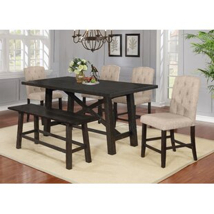 Greenspan 6 Piece Counter Height Solid Wood Dining Set
