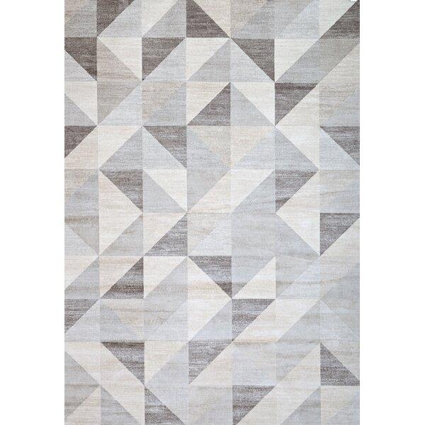 abacasa sonoma grey/white area rug & reviews | wayfair