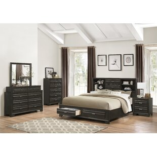 Roundhill Furniture Loiret Wood 5 Piece Bedroom Set