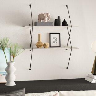 Mcentee 2 Wall Shelf Set With Wire Bracket