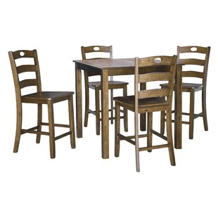 Hedberg 5 Piece Counter Height Dining Set Charlton Home