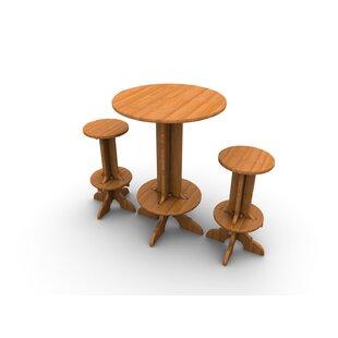 Wedgewood Furniture Palladian Line 3 Piece Bar Height Dining Set