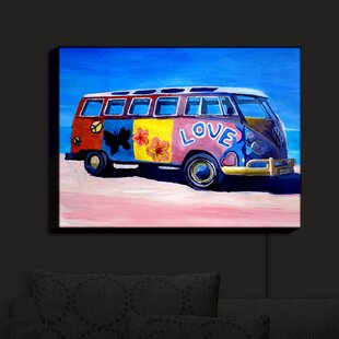 Brayden Studio The Love VW Bus ' Print on Fabric