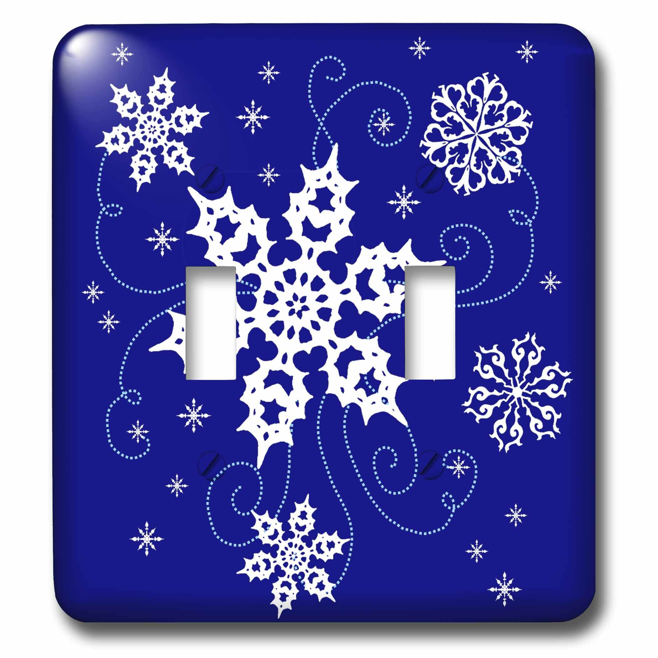 3drose Pretty Swirling Snowflakes 2 Gang Toggle Light Switch Wall Plate Wayfair