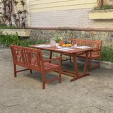 Amabel 3 Piece Patio Dining Set