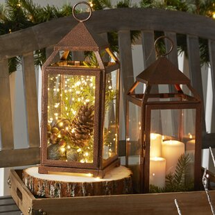Large Contemporary Iron Lantern By Three Posts Outdoor Lighting