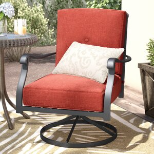 Hanson Swivel Patio Dining Chair with Cushions (Set of 2)
