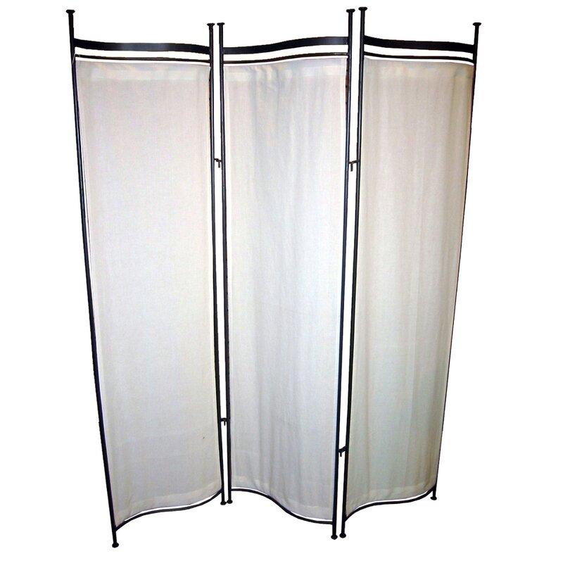 Pangaea Privacy Screen 3 Panel Room Divider Wayfair