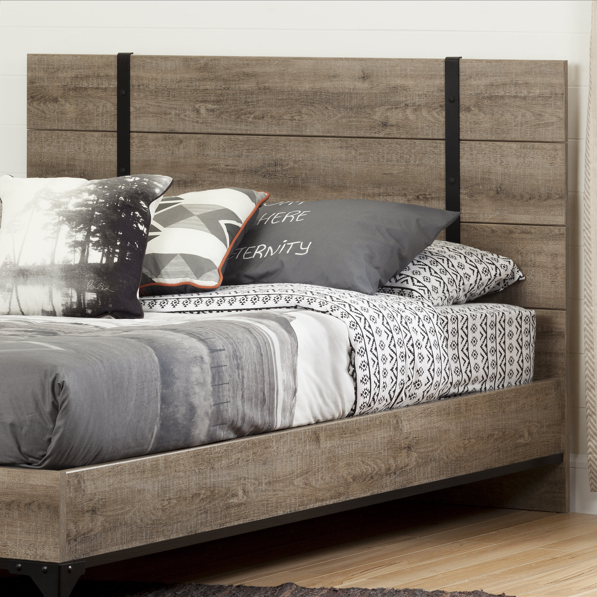 finish panel full forge ip queen coffee sauder carson walmart headboard oak com