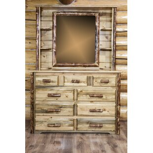 Read Reviews Lapham 9 Drawer Dresser with Mirror by Millwood Pines